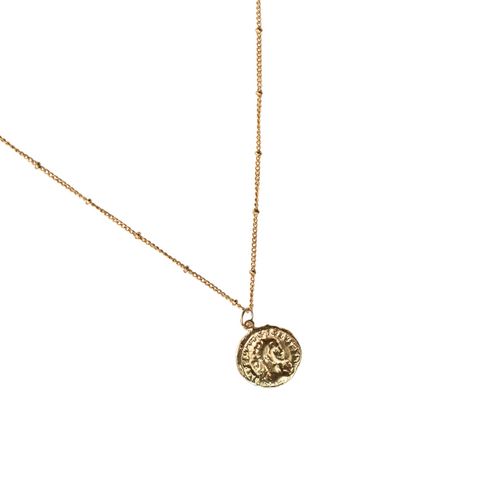 Kamala Gold Vermeil Coin Necklace - CELESTE SOL Jewelry