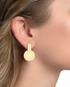 24K Gold Plated Sterling Silver Disc Earrings - CELESTE SOL Jewelry