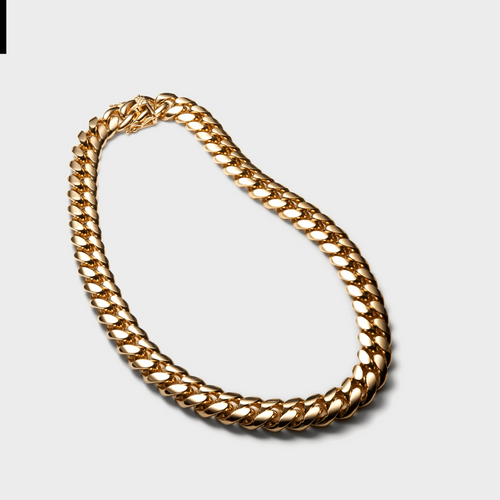 14MM Wide Curb Chain Chunky Gold 18