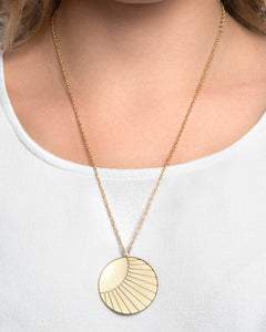 24K Gold Plated Sterling Silver Large SOL Coin Necklace - CELESTE SOL Jewelry