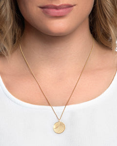 24K Gold Plated Sterling Silver Small SOL Coin Necklace - CELESTE SOL Jewelry
