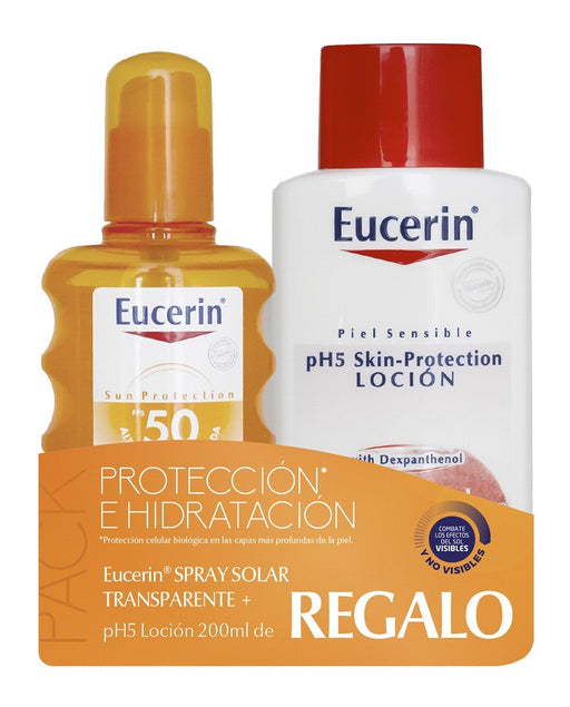 Eucerin Sun Spray Transparente Piel Sensible Pack