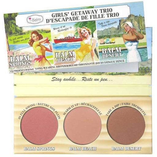 The Balm Girls' Getaway Trío Coloretes y Bronceadores