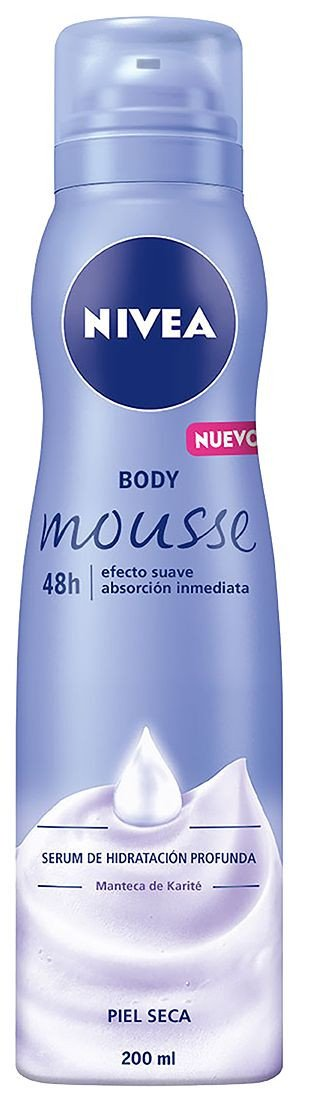 Nivea Body Mousse Smooth Hidratante para piel seca
