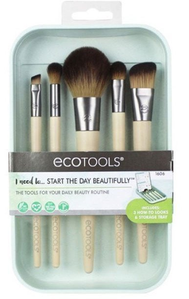 Ecotools Start The Day Beautifully Kit Set 5 Brochas