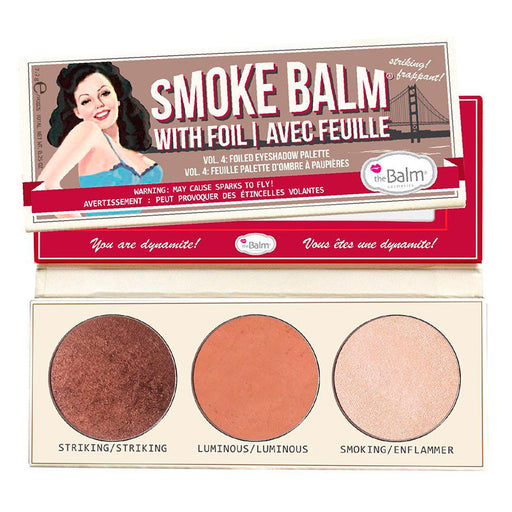 The Balm Trio Sombra de Ojos Smoke Balm 4 Foiled Paleta
