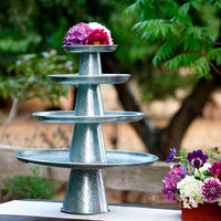 Galvanized Cake Stands