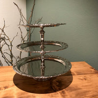 Silver Three Tiered Tray