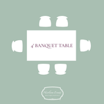 Rent 4' Banquet Tables