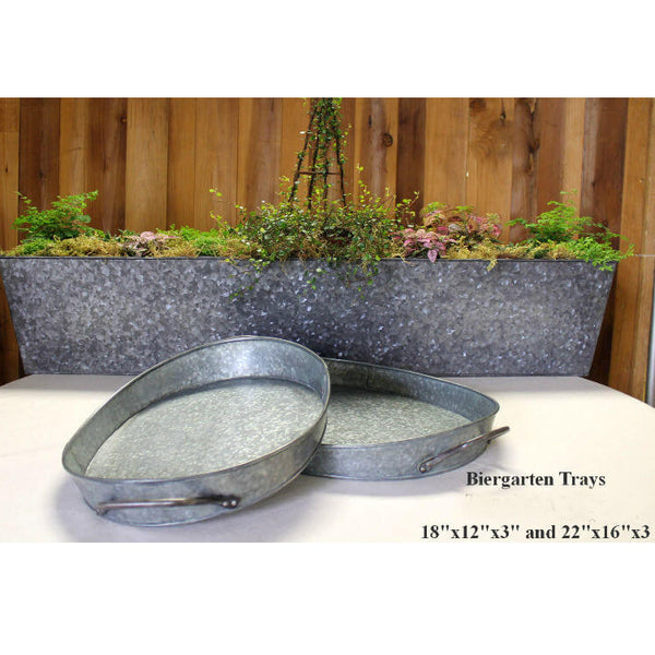 Galvanized Biergarten Trays
