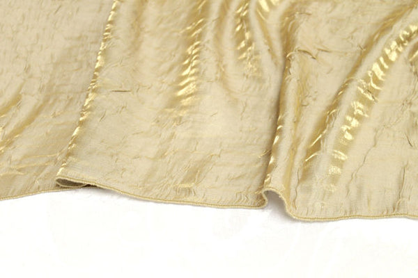 Iridescent Crush Table Linen - Champagne Gold