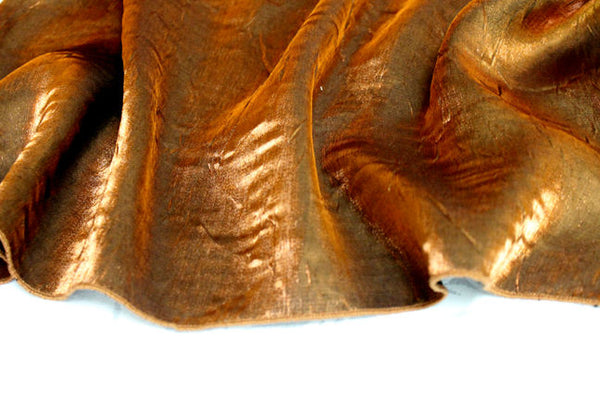 Iridescent Crush Table Linen - Copper
