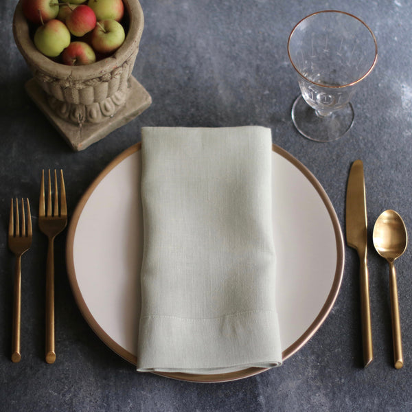 European Linen Napkins in Sea Breeze