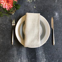 European Linen Napkins in Natural