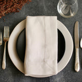 European Linen Napkins in white