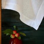 European Linen Table Runner in White