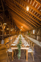 Handmade Farm Table in Rustic Barn Wedding
