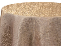 Champagne Gold Iridescent Crush Table Linen