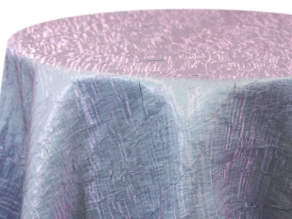 Iridescent Crush Table Linen - Pink Aqua
