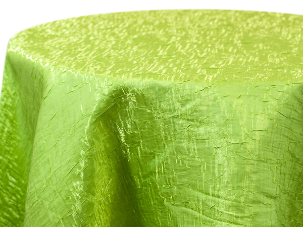 Iridescent Crush Table Linen - Lime