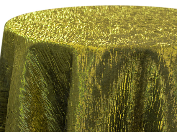 Iridescent Crush Table Linen - Moss