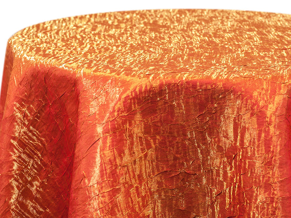 Iridescent Crush Table Linen - Sunset Orange