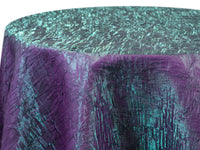 Iridescent Crush Table Linen - Violet Green