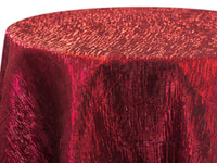 Iridescent Crush Table Linen - Velvet Red