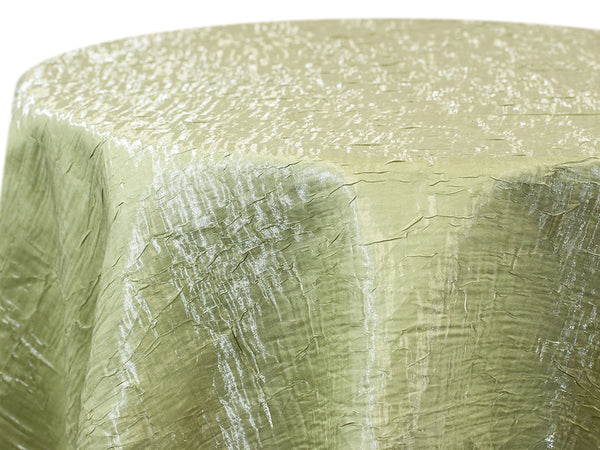 Iridescent Crush Table Linen - Seafoam