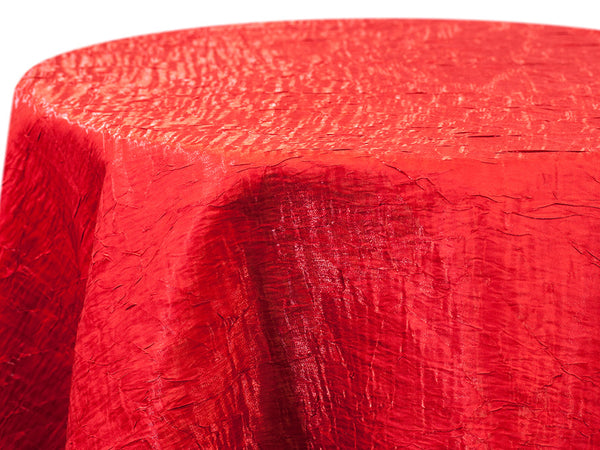 Iridescent Crush Table Linen - Red