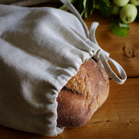Linen Bread Bag and Bread San Francisco
