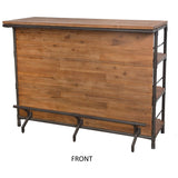 Rustic Wood Industrial Bar