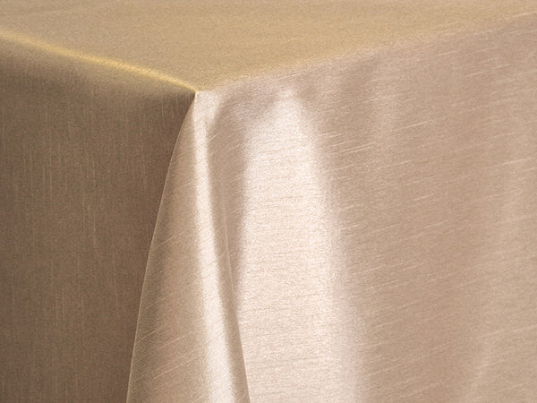 Dupioni Table Linens - Champagne