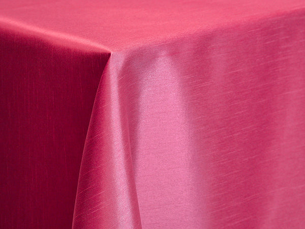Dupioni Table Linens - Fuschia