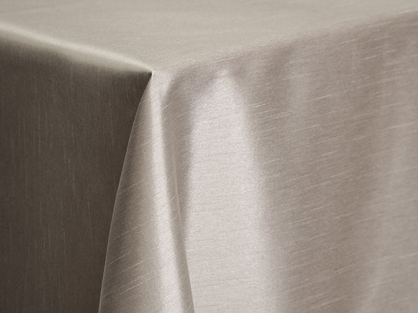 Dupioni Table Linens - Silver