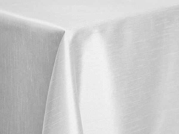 Dupioni Table Linens - White