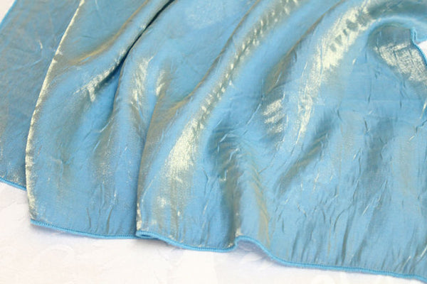 Iridescent Crush Table Linen - Turquoise Gold