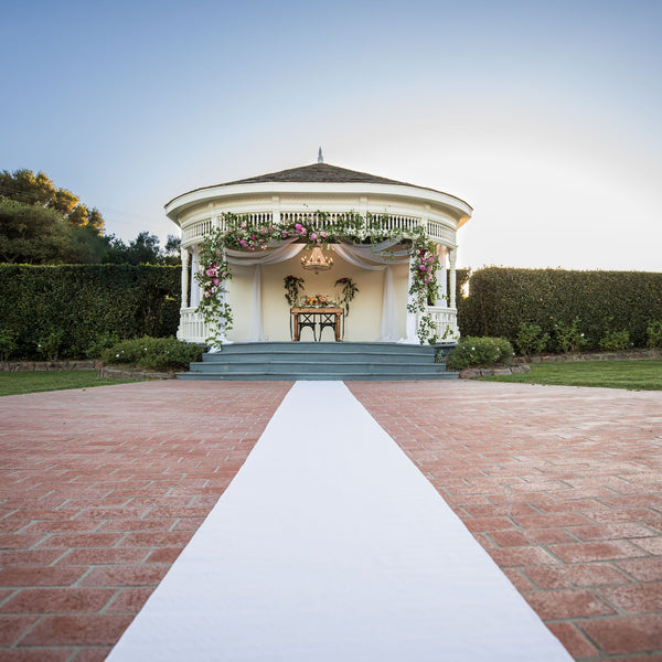 White Bridal Aisle Runner for Rent