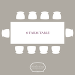 8' Farm Table