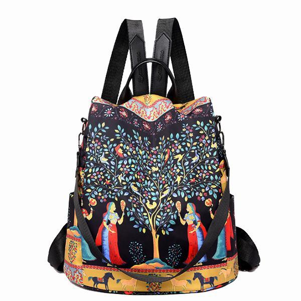 New Printed Anti Theft Multi Function Backpack