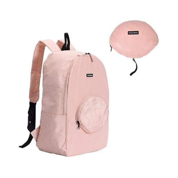 Obangbag Backpack / Pink Travel Vacation Shell Shape Foldable Storage Waterproof Casual Handbag Backpack Series
