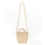 Obangbag beige Ladies Summer Holiday Woven Straw Rattan Beach Bag Mini Cute Small Bag Handbag