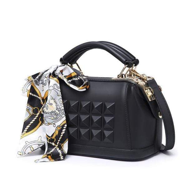 Obangbag Black 2020 Women's spring and summer fashion frosted one shoulder slant cross jelly bag