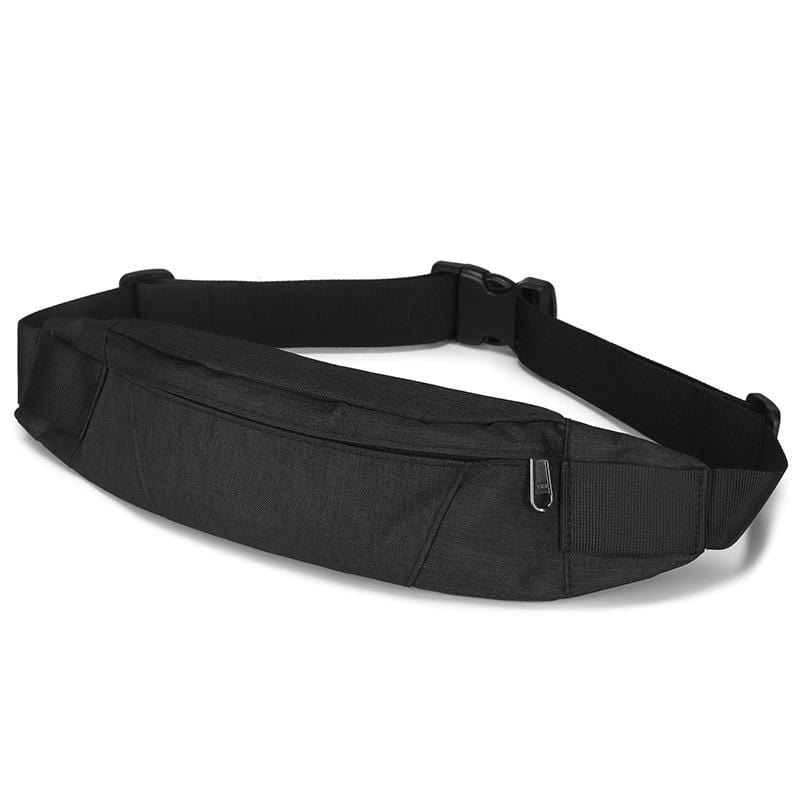 Obangbag Black Men Stylish Multifunction Roomy Casual Sports Outdoor Oxford Waterproof Fanny Pack Waist Bag