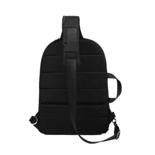Obangbag black Men Waterproof Backpack Anti-theft External USB Charge Outdoor Bag Sling Chest Bag