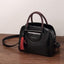 Obangbag Black Multi Pockets Retro Vintage Classical Oil Wax Leather Handbag