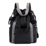 Obangbag Black Multifunction Adjustable Travel Backpack Waterproof Zipper Shoulder Bag Backpack