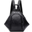 Obangbag Black Multifunction Women Leather Backpack Large Capacity Deformable Stylish Shoulder Bag