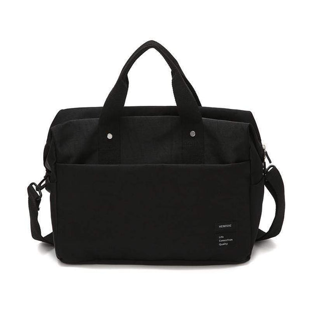 Obangbag Black Multifunctional Large Capacity Handbag Messenger Bag Luggage Bag Travel Bag