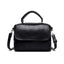 Obangbag Black Retro Leather Vintage Multi-pocket Handbag Minimalist Messenger bag